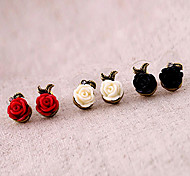 Vintage Rose Fiore Orecchini