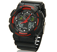 Men's Multi-Functional Round Dial Rubber Band Analog-Digital Wrist Watch (Assorted Colors)