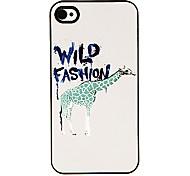 Fashion Green Giraffe Pattern Aluminous Hard Case for iPhone 4/4S