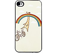 Giraffa felice nel reticolo del Rainbow Hard Case alluminosi per iPhone 4/4S