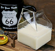 Creative Milk-carton Design Glass Cup
