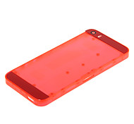 Rote Hartplastik zurück Batterie-Gehäuse mit rotem Glas für iPhone 5s