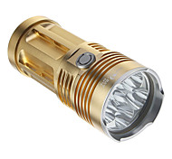 SKYRAY 6XT6 2-Mode 6xCree XM-L T6 LED Flashlight (4800LM, 4x18650, Gold)