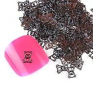 YeManNvYou®20PCS Cute Alloy Bear Nail Art Decorations No.43-44 (Assorted Colors)