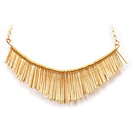 Delicate (Tassels Pendant) Gold Alloy Torque(Gold,Silver)(1 Pc)