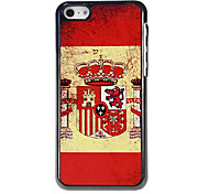 Flag of Spain Pattern Aluminous Hard Case for iPhone 5C
