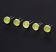 DIY 0.5W 30-35LM 6000K COB Cool White Light LED Bead (3-3.3V/5pcs)
