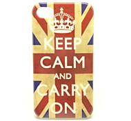 """Keep Calm and Carry On"" UK Flag Pattern Skin Hard Plastic Case for iPhone 4/4s"
