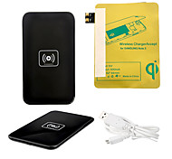 Nero Wireless Power Charger Pad + Cavo USB + ricevitore Paster (Gold) per Samsung Galaxy S3 I9300