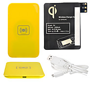 Yellow Wireless Power Charger Pad + USB Cable + Receiver Paster(Black) for Samsung Galaxy Note3 N9000
