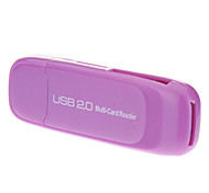All-in-one USB 2.0 Micro SD Memory Card Reader (roxo)