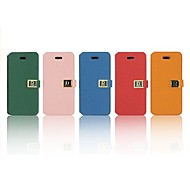 Metal Button Grain Leader Full Body Case for iPhone 4/4S (Assorted Color)
