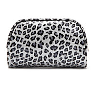 Grau Leopard Quadrate Make up / Kosmetik Tasche Kosmetik Lagerung