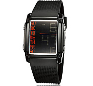 Men's Multi-Functional Digital Dial Rubber Band Wrist Watch Cool Watch Unique Watch