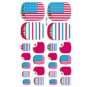 22PCS Lovely Flag Of The United States Cartoon Nail Art Sticker XJ Sery No.15