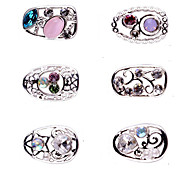 1PCS Zircon Diamond Studded Nail Art Alloy Decorations Riches And Honour No.93-98