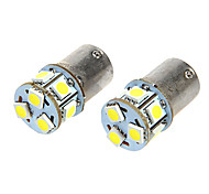 BA15S T18 1.6W 12V 110LM White Light 9-LED Light Car Lampadine