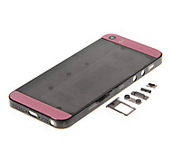 Black Hard Plastic Back Battery Housing with Buttons and Pink Glass For iPhone 5s