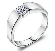 Fashionable Platimum Plated With Cubic Zirconia Women's Ring