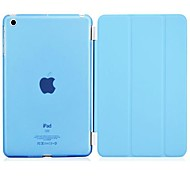 PU Leather with Translucent Plastic Hard Back Smart Stand Case for iPad 2/3/4 (Assorted Colors)