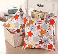 Geometric Muti-colored Stars Pillow With Insert