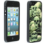 Unico Skull 3D Pic Style Shell di plastica duro Back Cover per iPhone 5/5S