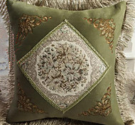 Retro Euro Floral Pattern Decorative Pillow With Insert - 3 Colors Available