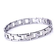 Personalisierte Geschenke Schmuck für Männer Einfache Design Edelstahl Gravur ID Armbänder 1 cm Breite