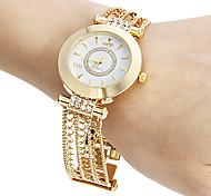 Damen Quartz Band Glanz Gold Marke-