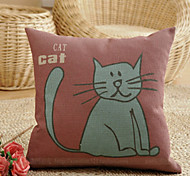 Cute Cartoon Little Lazy Cat Pattern Decorative Pillow With Insert