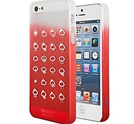 Weather Forecast Pattern Protective Silicone Case for iPhone 5 (Assorted Colors)