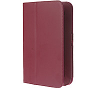 For Samsung Galaxy Case with Stand / Flip Case Full Body Case Solid Color PU Leather Samsung Tab 2 7.0