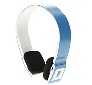 8086 Bluetooth Headset Music On-ear Earphone for Iphone Ipad Computer (Blue)