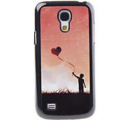 Voando Espelho Padrão Amor Balão Decal Suave Voltar Hard Case para Samsung Galaxy S4 Mini I9190