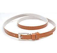Women Faux Leather Skinny Belt , Casual