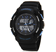 Men's Multi-Functional Digital Dial Rubber Band Wrist Watch (Assorted Colors) Cool Watch Unique Watch