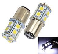 Merdia 1157 1.5W 140LM 13x5050SMD LED White Light Car Brake / Steering Light (2 Pcs/12V)
