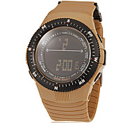 Men's Multi-Functional Digital Dial Rubber Band Wrist Watch