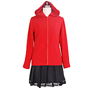Vocaloid Gumi Black & Red Polyester Cosplay Costume