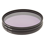 CPL + UV + FLD Filter Set for Camera with Filter Bag (77mm)