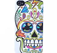 Fiore modello del cranio ABS posteriore Case for iPhone 4/4S