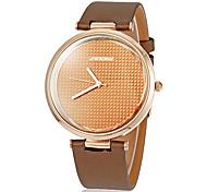 Unisex Simle dial redondo Pu banda de cuarzo reloj de pulsera analógico (colores surtidos)