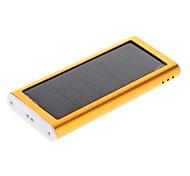 2000mAh Solar External Battery Golden for Mobile Device