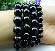 Caring Salute Elegant Black Naturel cristallo ologramma Bracelet (1 Pc)