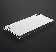 Pure Pattern Transparent Plastic Hard Back Case Cover for HUAWEI Ascend P6