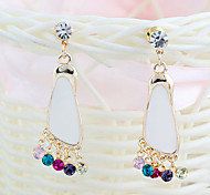 Drop EarringsJewelry Golden / Clear Alloy / Rhinestone Party / Daily / Casual