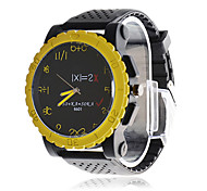 Men's Black Dial Analog Quartz Black Silicone Band Wrist Watch
