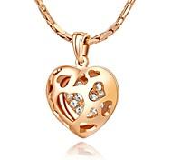 Kristall Herz Liebe Halskette