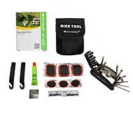 ciclismo kit ferramenta de reparação de bicicletas multifuncional preto