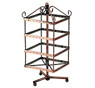 High Quality Rotating Metal Earring Display Stand Holder Rack for 64 Pairs
